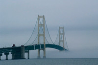 Mackinaw Bridge in the Fog