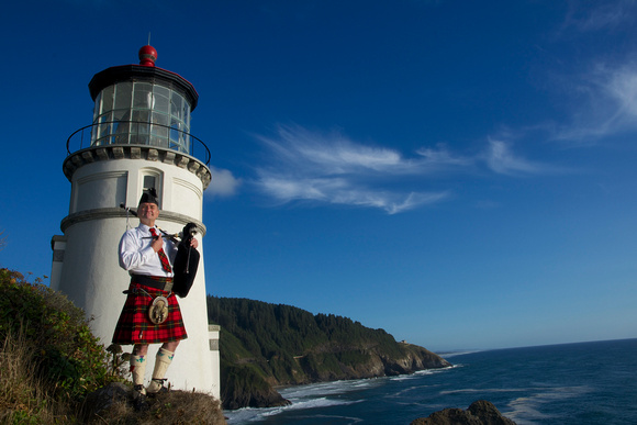 Piper at Heceta Lighthouse